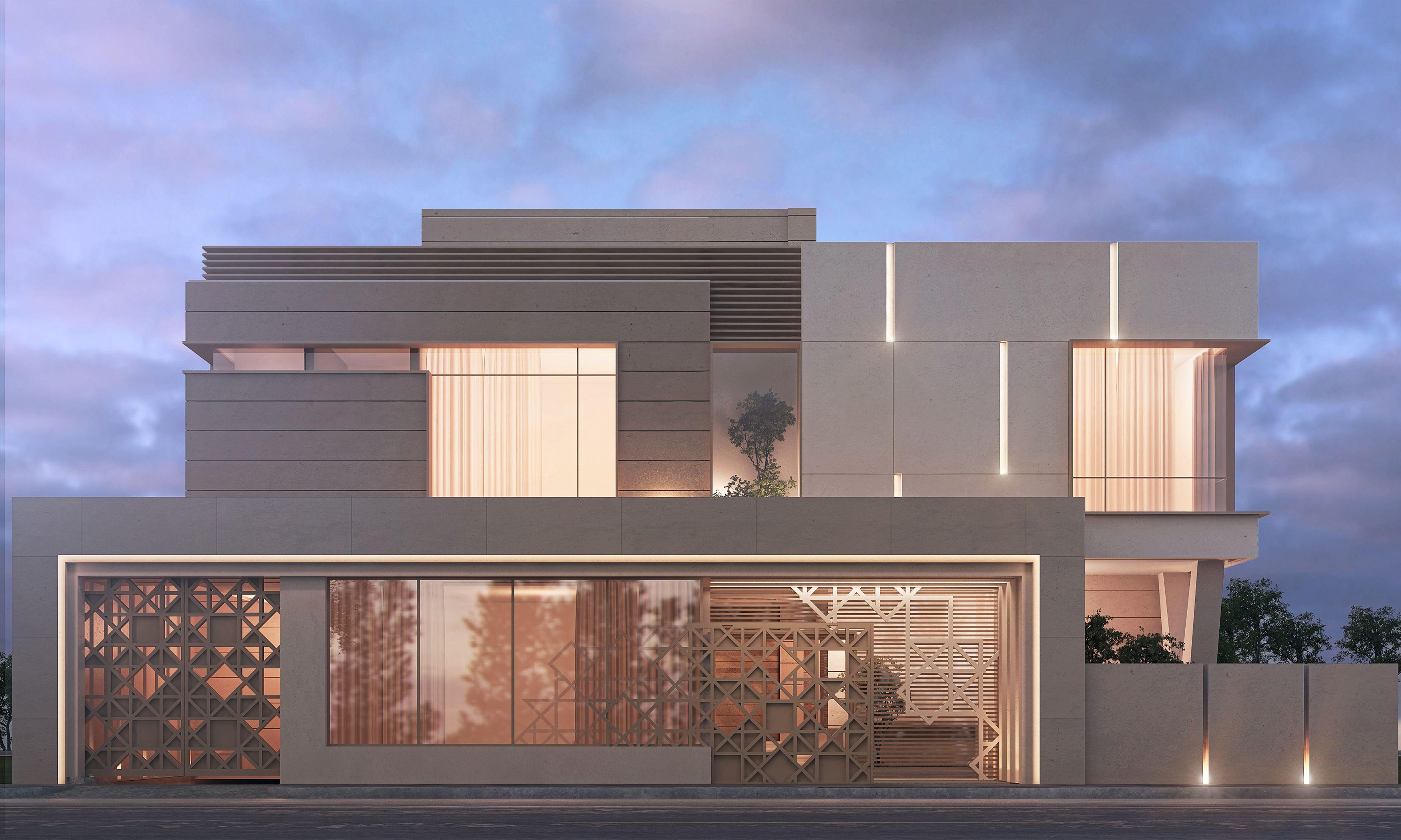 1000 m private villa kuwait sarah sadeq architectes for Villa style moderne