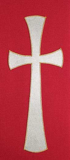 Red stole plain cross design | Stoles | Pinterest