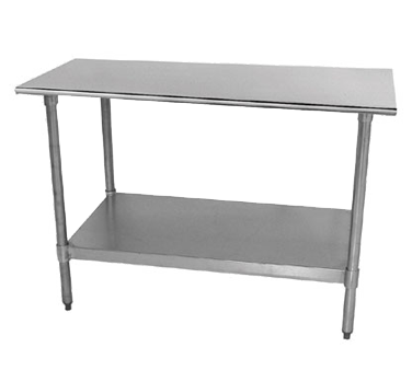 TTX Lite Series Work Table Wide Top Without Splash - 18 wide stainless steel work table