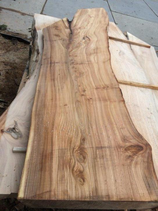 stoer en rustieke boomstam tafelblad planken eiken iepen On boomstam plank kopen