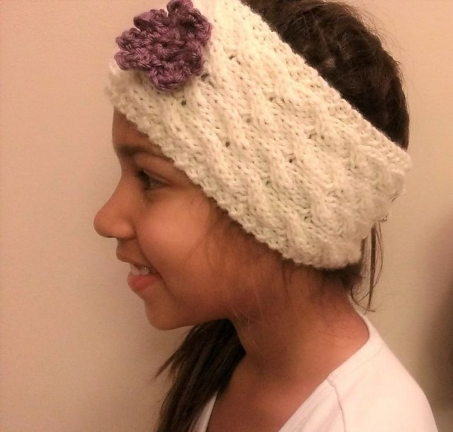 Cable Headband pattern by Bonnie Nurnberger