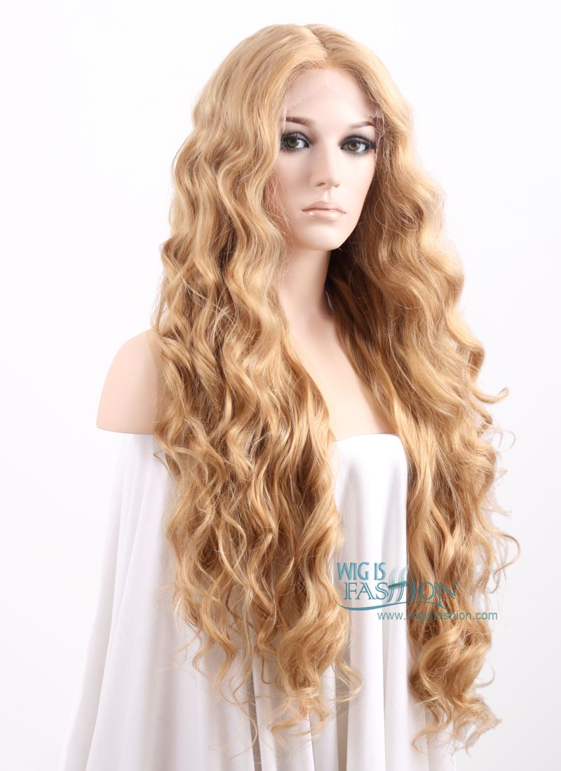 Wavy Golden Blonde Lace Front Synthetic Wig Lf244 Blonde Lace Front Wigs Wig Hairstyles Blonde Lace Front