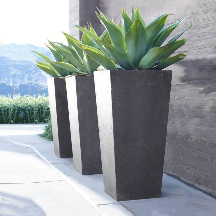 Contemporary Precast Stone Planters By Stonemountaincasting On