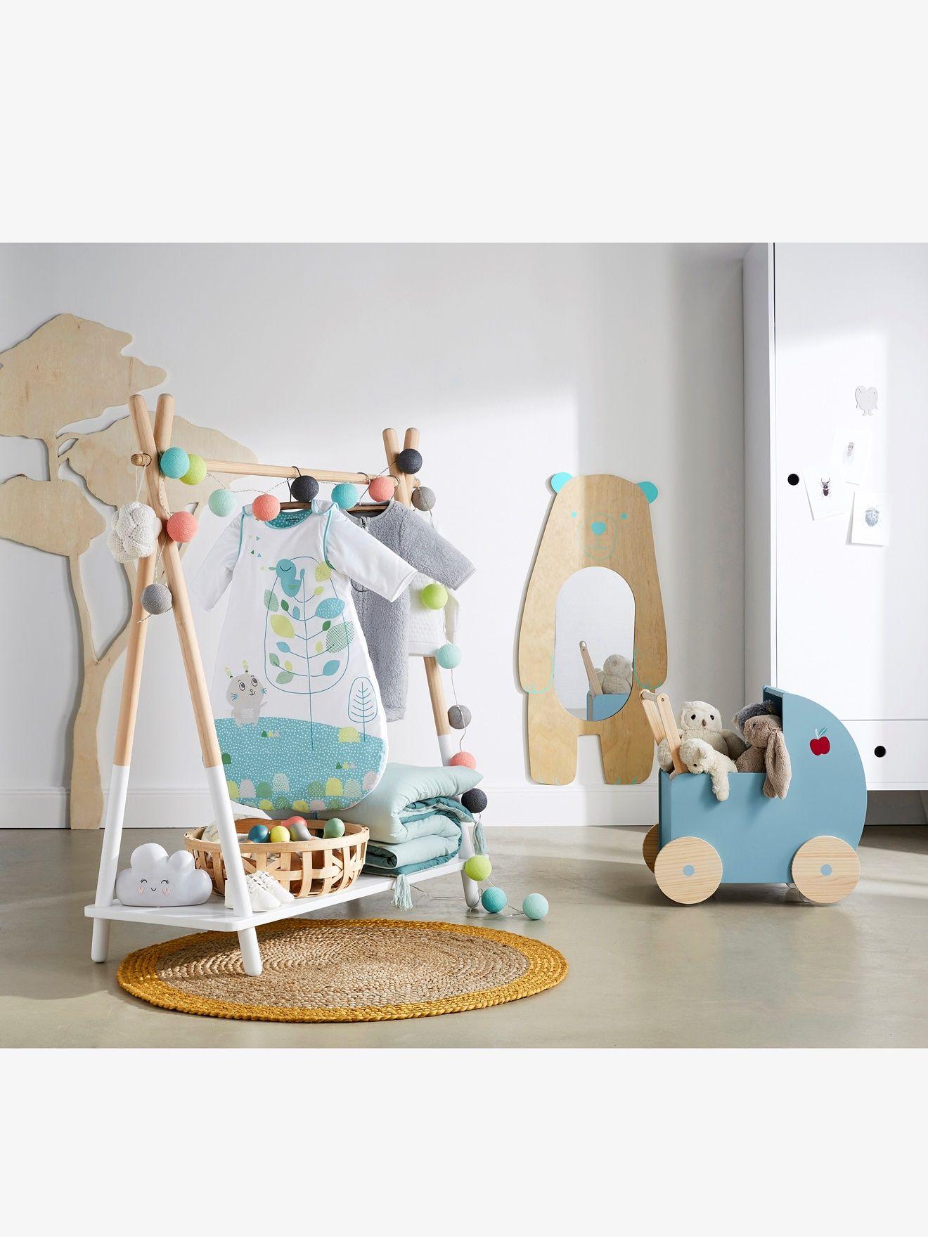 Zwillingszimmer gestalten  Vertbaudet Puppenwagen, Retro-Stil in natur/blau | <3 | Pinterest