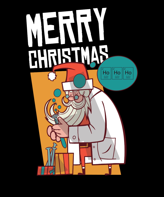 Santa Chemiker Ho Ho Ho  #nikolausgeschenkmann