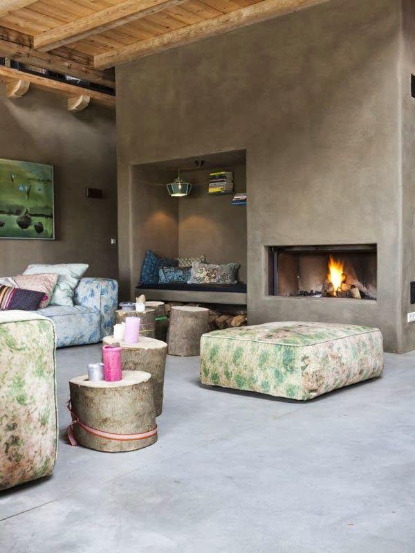 75 ideas de chimeneas con estilo ideas eco chimeneas fireplaces pinterest casas hogar - Chimeneas con estilo ...