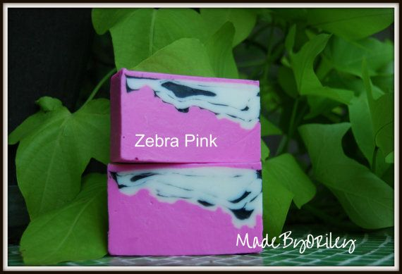 Zebra Pink. Handmade soap rich with nourishing by MadeByORiley