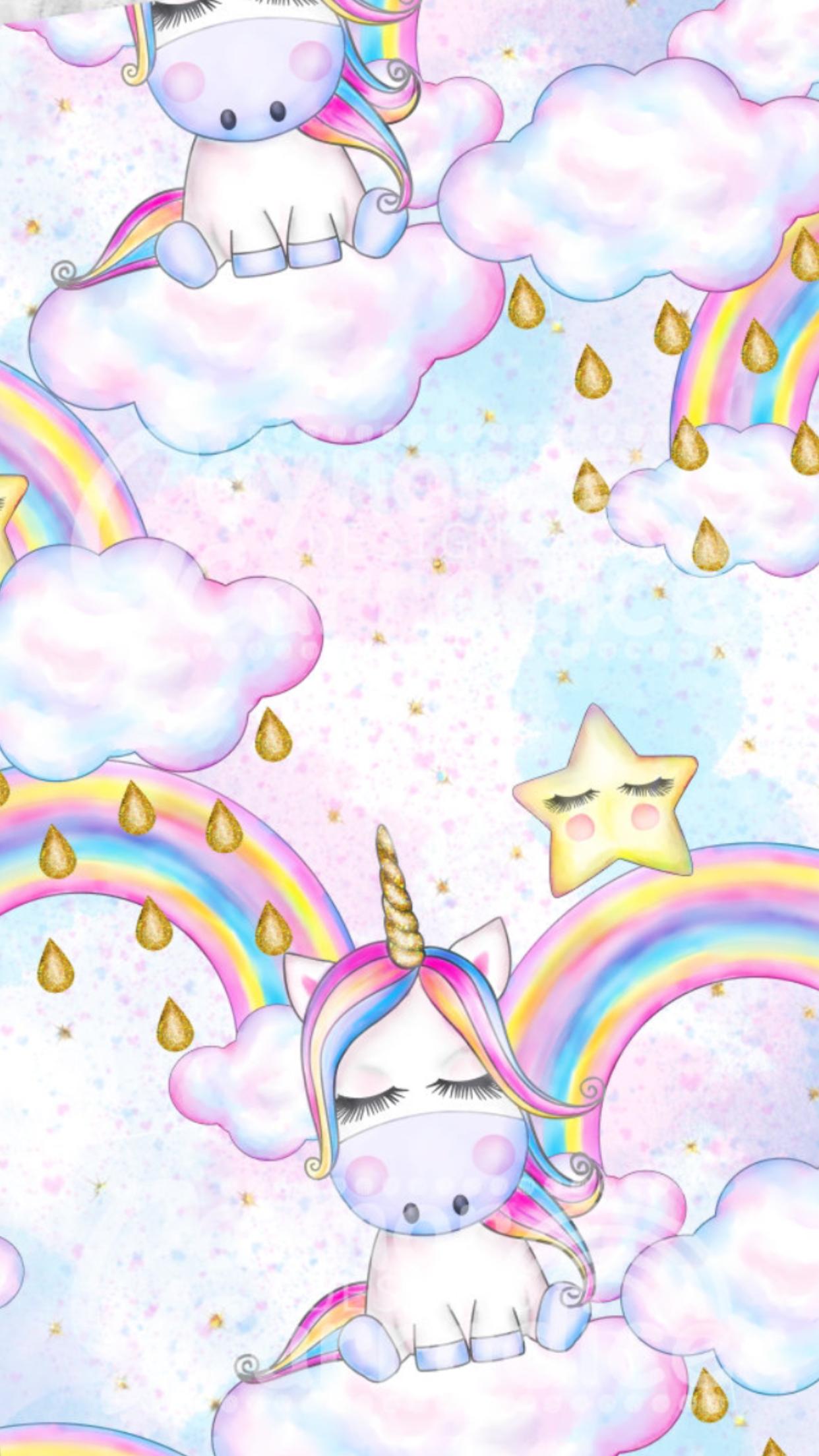 Unicorn And Rainbow Dengan Gambar Gambar Lucu