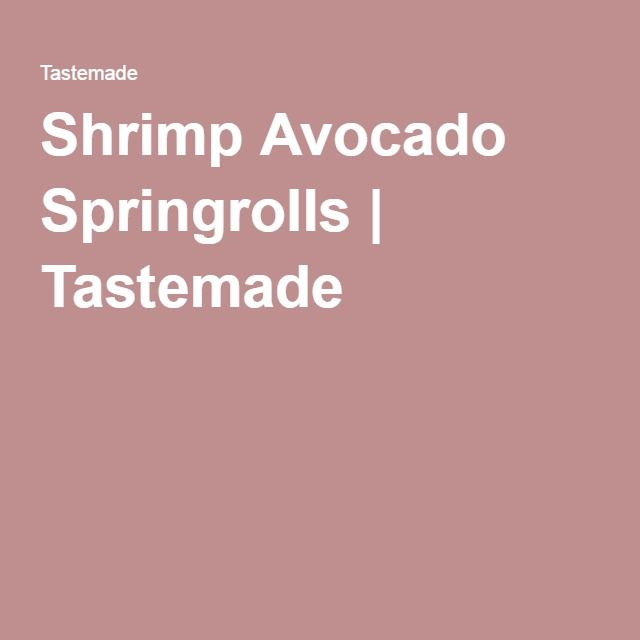 Shrimp Avocado Springrolls | Tastemade Video lesson