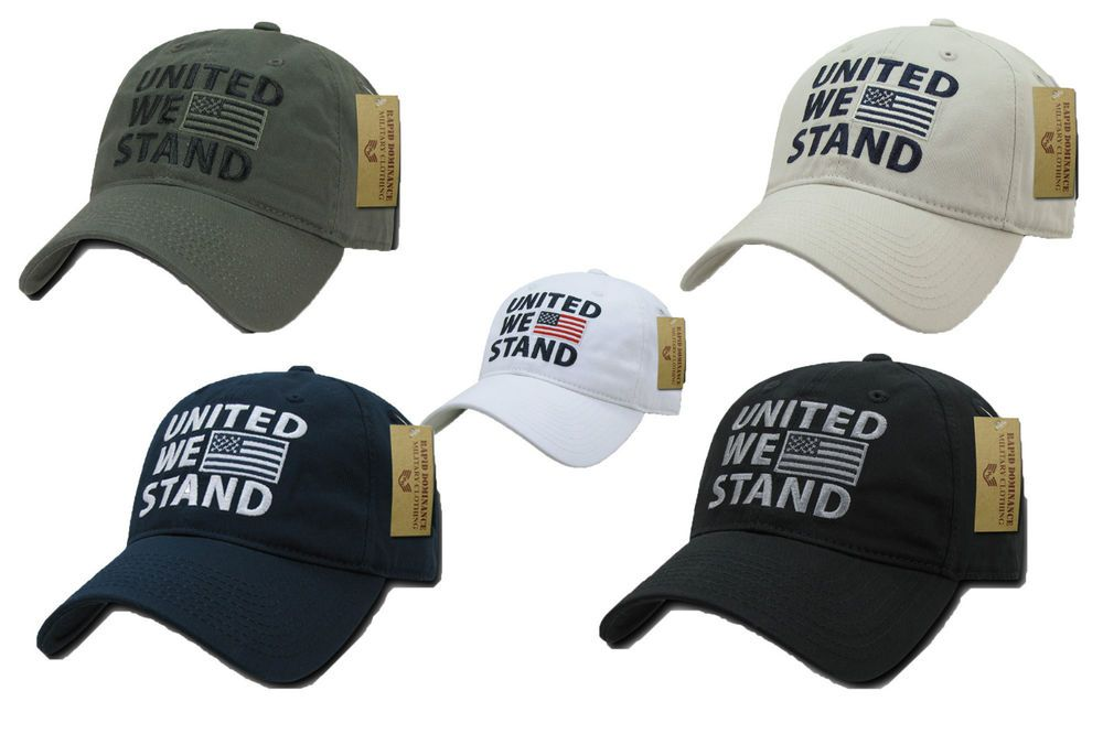 ... buying now 925b9 48115 USA American United We Stand Flag Patch Baseball  Caps Hats Washed Cotton ... 9da4d0563100