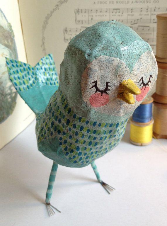 обротень поделка птичка из папье маше фото шатенка