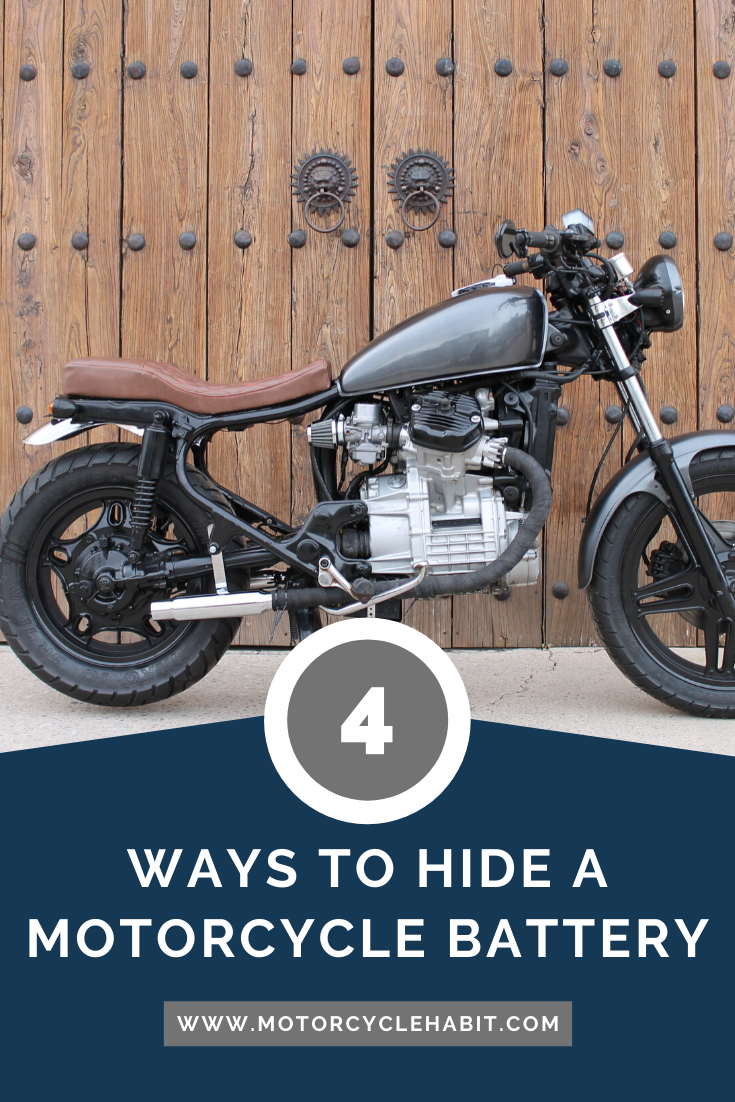 4 Ways To Hide A Motorcycle Battery Motorcycle Battery Motorcycle Diy Motorcycle