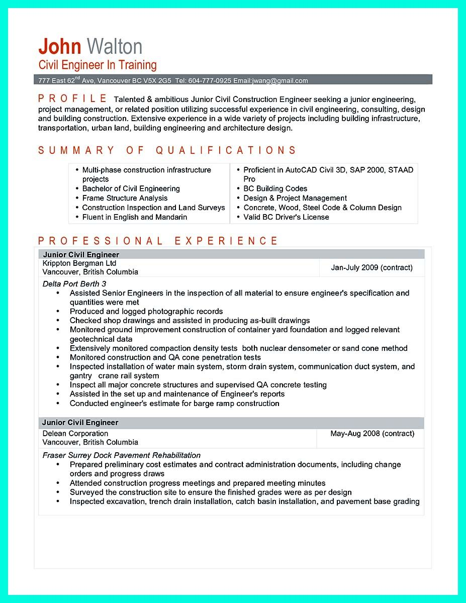 Cool Cool Construction Project Manager Resume To Get Applied Check More At Http Snefci Org C Project Manager Resume Engineering Resume Civil Engineer Resume