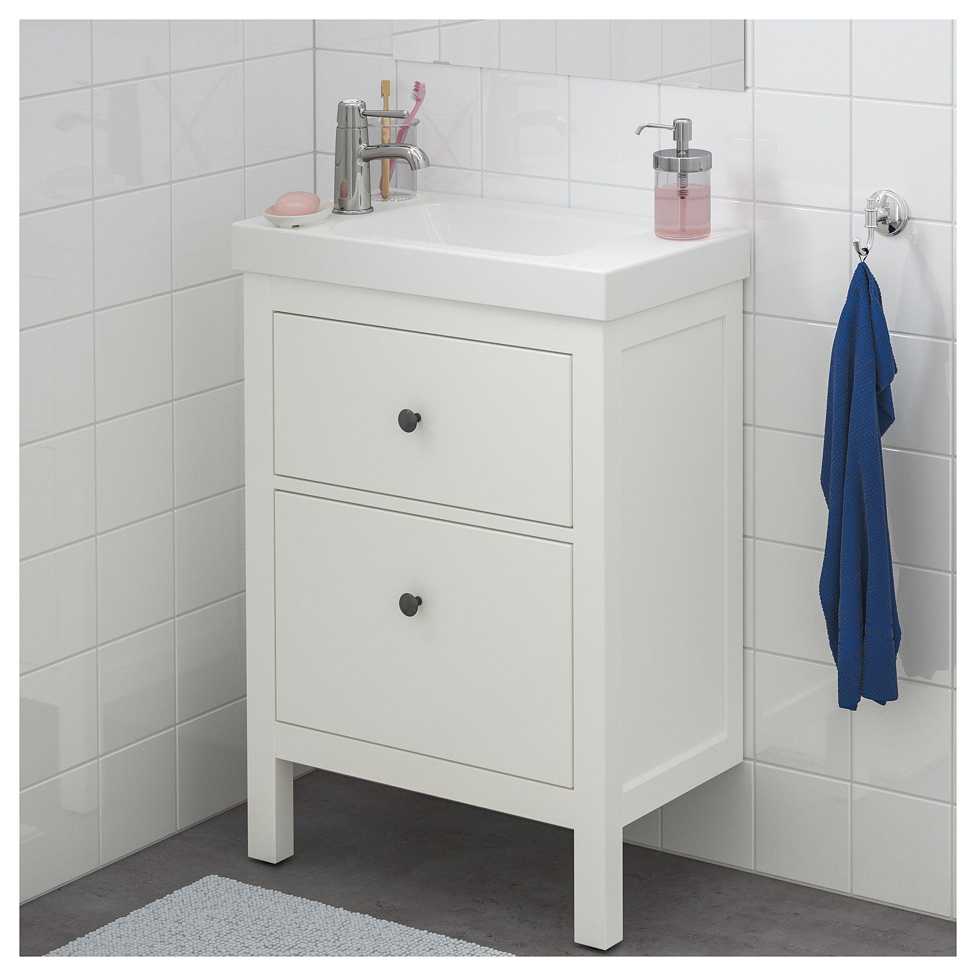 IKEA - HEMNES / HAGAVIKEN Sink cabinet with 2 drawers white ...