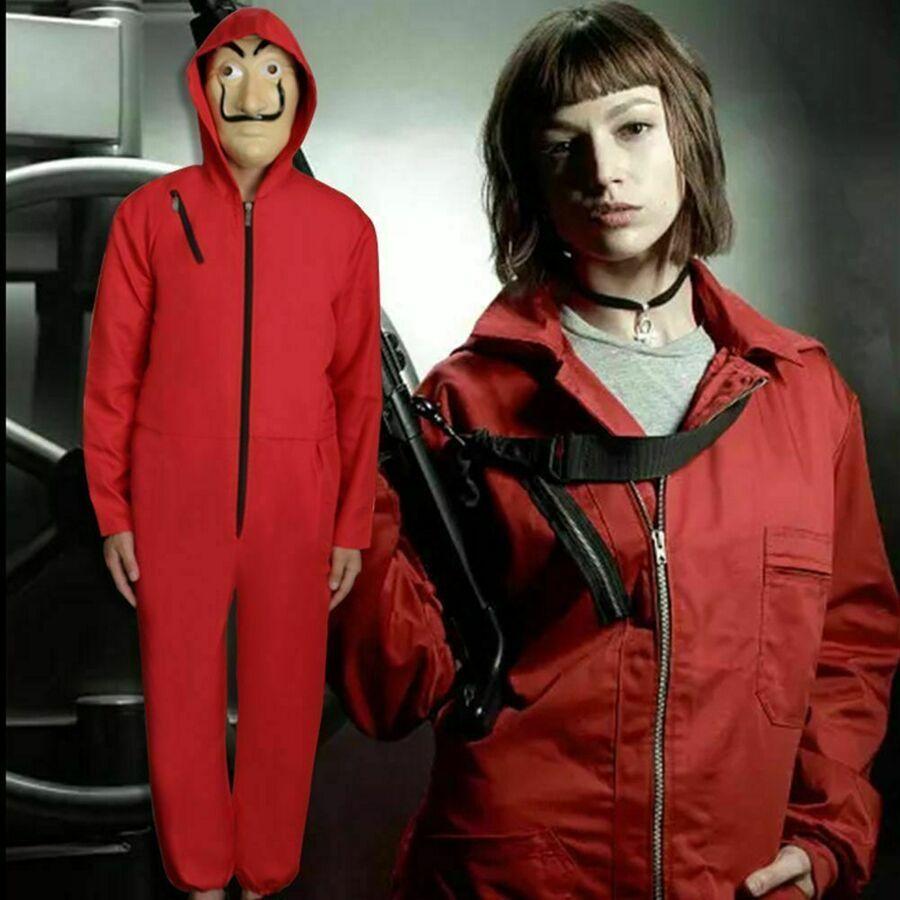 Unisex For La casa de papel Season Kid Adult Jumpsui Money Heist Cosplay Costume