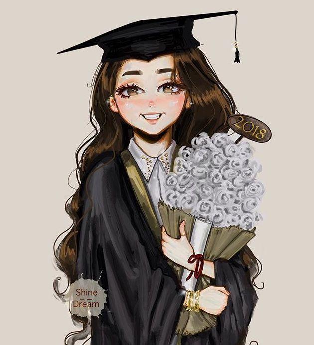 احلى خريجة ايمان In 2020 Fashion Art Illustration Graduation Girl Graduation Art