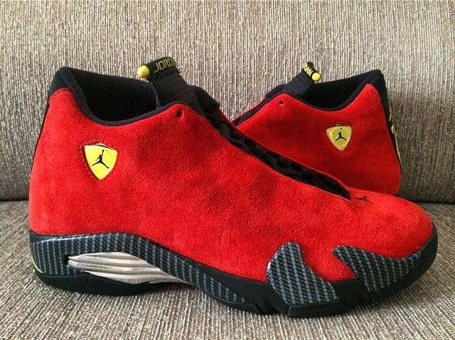 """Air Jordan 14 """"Ferrari"""" (Closer Look"""