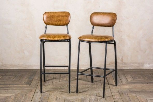 Awesome Strand Leather Bar Stools Chair Leather Bar Stools Mid Cjindustries Chair Design For Home Cjindustriesco