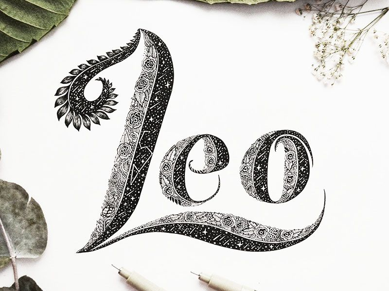 Hand Lettering Word For Leo Tattoo Lettering Hand Lettering Name Tattoos