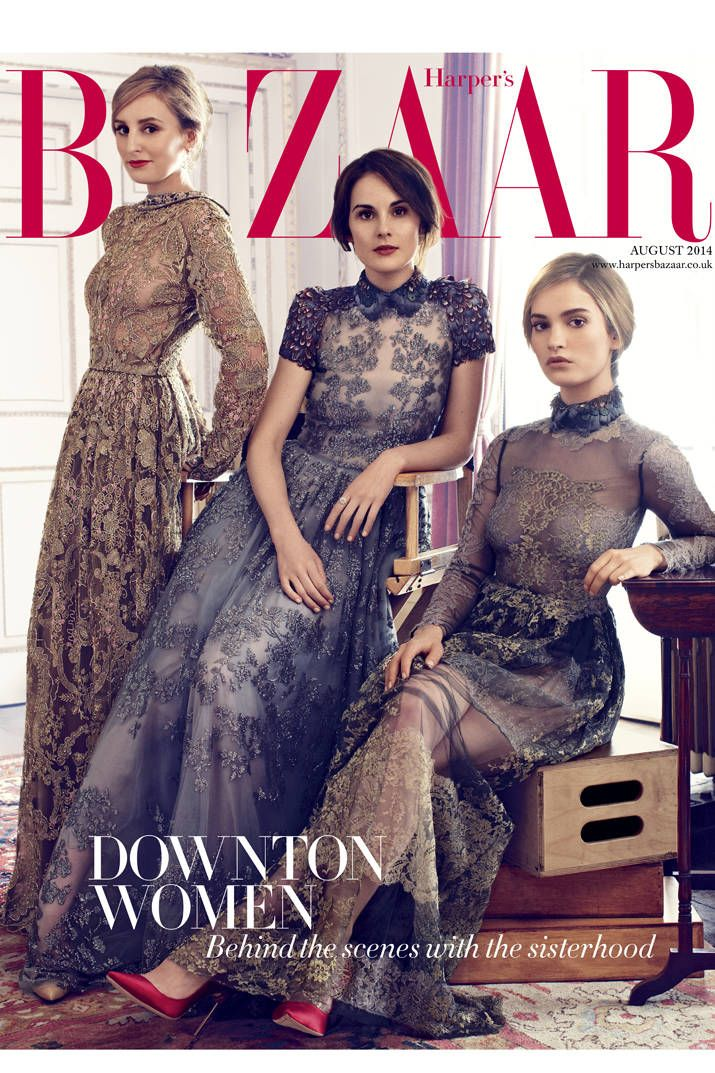 Sophie Elmhirst joins the female cast of Downton Abbey for an exclusive party at the manor.