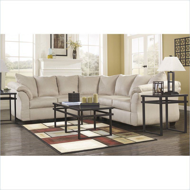 Signature Design By Ashley Furniture Darcy Sectional In Stone