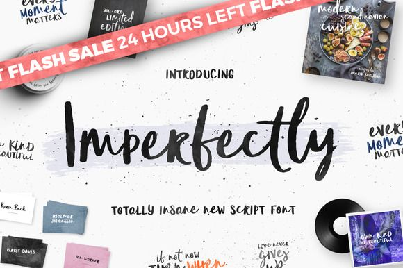 [-39% FLASH SALE] Imperfectly Script by Mats-Peter Forss on @creativemarket