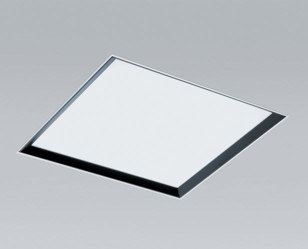 Ceiling light fixture / recessed / fluorescent / square SHADOW LIGHT ...