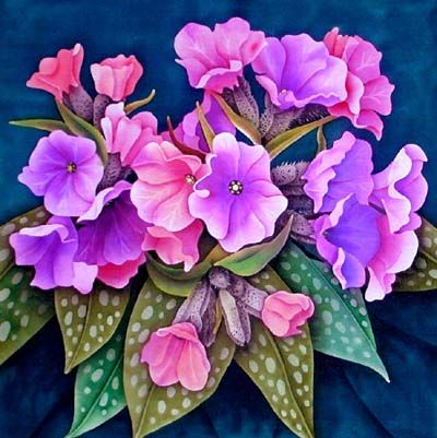 Silk painting flowering quince silk painting pinterest silk silk painting pulmonaria mightylinksfo
