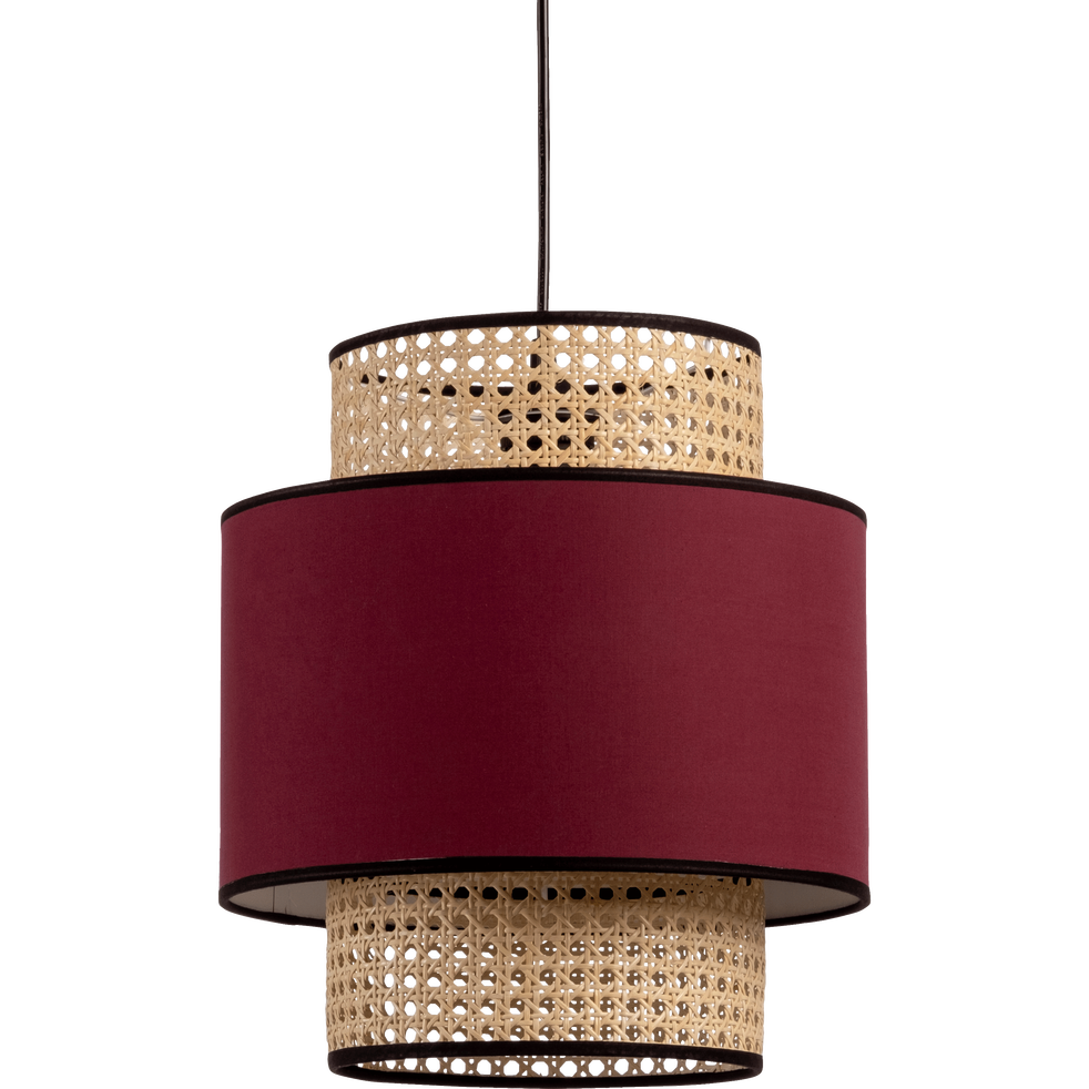 Suspension Luminaire En Cannage Weaved Cane Ceiling Light
