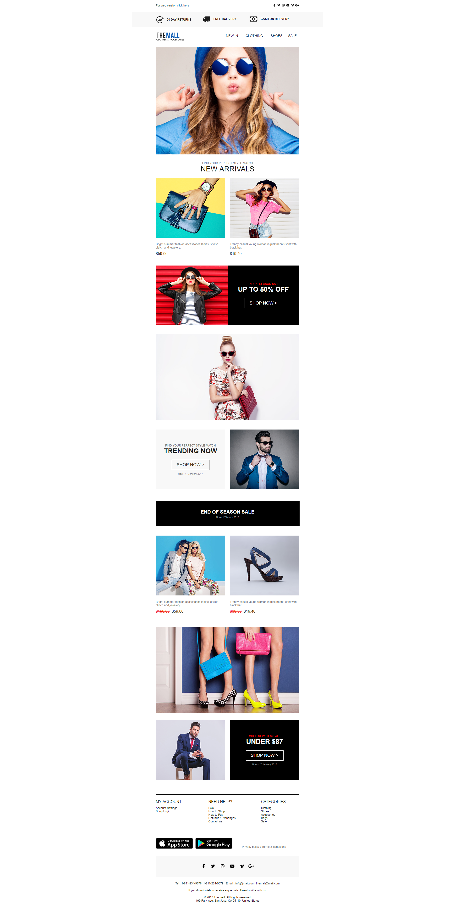 Randyjohnso i will design editable responsive html email template responsive ecommerce shopping email template fiverr newsletter marketting spiritdancerdesigns Gallery