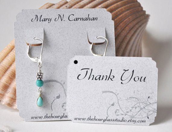 Earring Cards Hang Tags Jewelry By Thehourglstudio 16 00