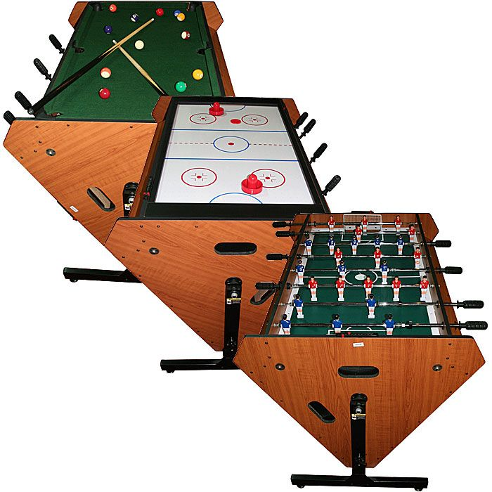 41995778cf70a Buy Cheap Indoor 3 in 1 Rotating Table Games - Air Hockey Foosball Pool