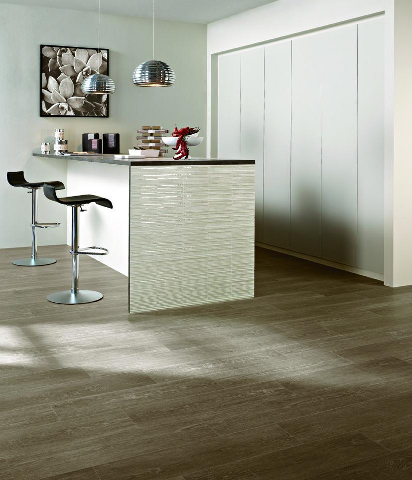 Albero Wood Look Porcelain. Shown Suber Ceramic floor