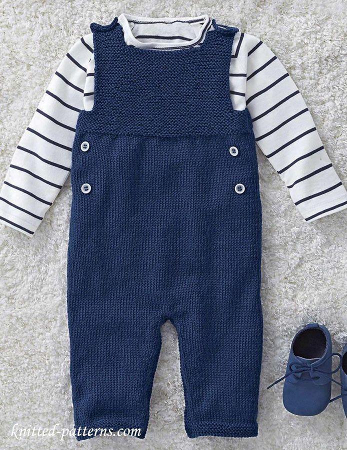 Photo of Baby Dungarees Free Knitting Pattern