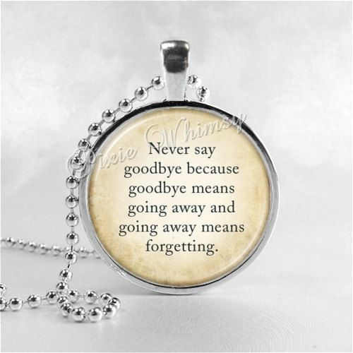 Peter Pan Necklace Never Say Goodbye Peter Pan By Pixiewhimsy 895