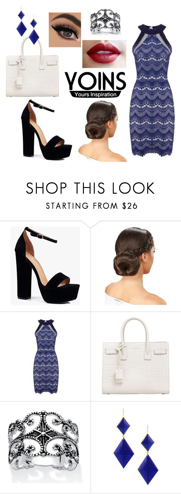 """Working Woman"" by perfectprincess147 on Polyvore featuring Boohoo, Yves Saint Laurent, Palm Beach Jewelry, Marie Hélène de Taillac, yoins and yoinscollection"