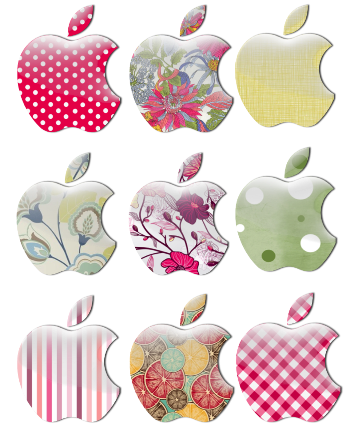 Manzanas decoradas