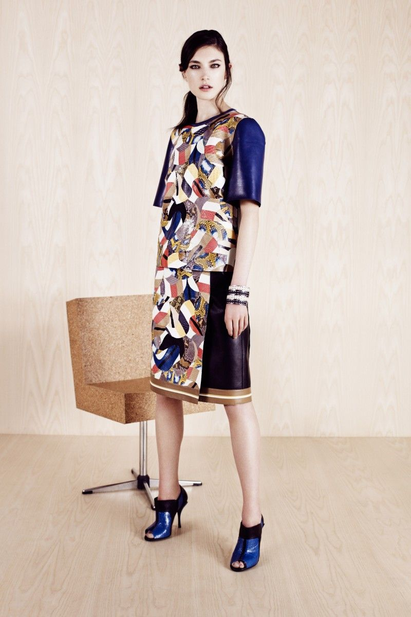 Fendi Mosaic pattern by Anna Russo on @Sbaam   http://sba.am/jbvuue2u5ps  #fendi #dress #pictures #model #fashion #patterns