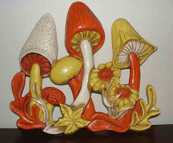 Retro 70s Kitschy Magic Mushroom Kitchen Wall Hanging Miller Studio Inc On Etsy 27 99 Mushroom Decor Vintage Mushroom 70s Decor