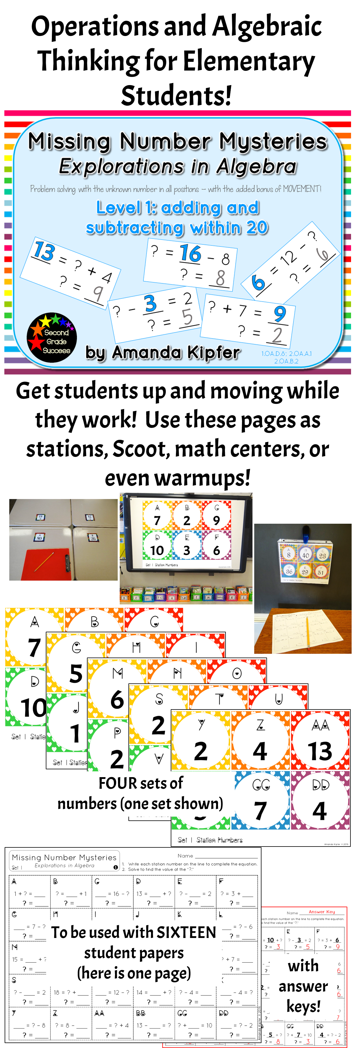 Missing Number Mysteries Explorations In Algebra Level 1