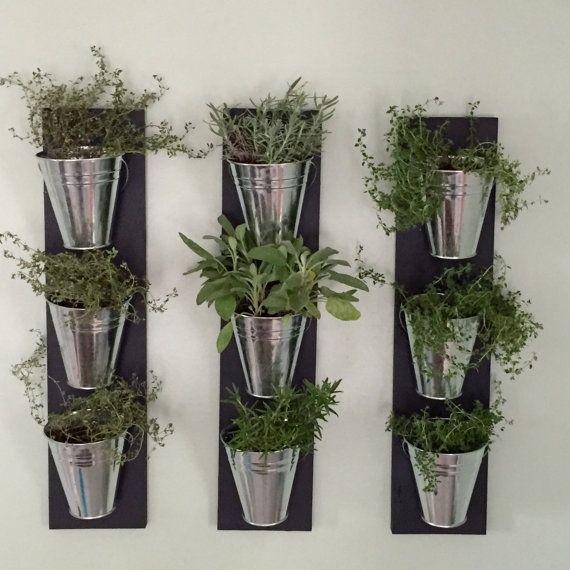 indoor wall planter one row 3 pots herb garden planter on indoor herb garden diy apartments living walls id=85909