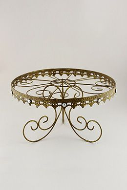 Metal Cake Stand Gold 12in