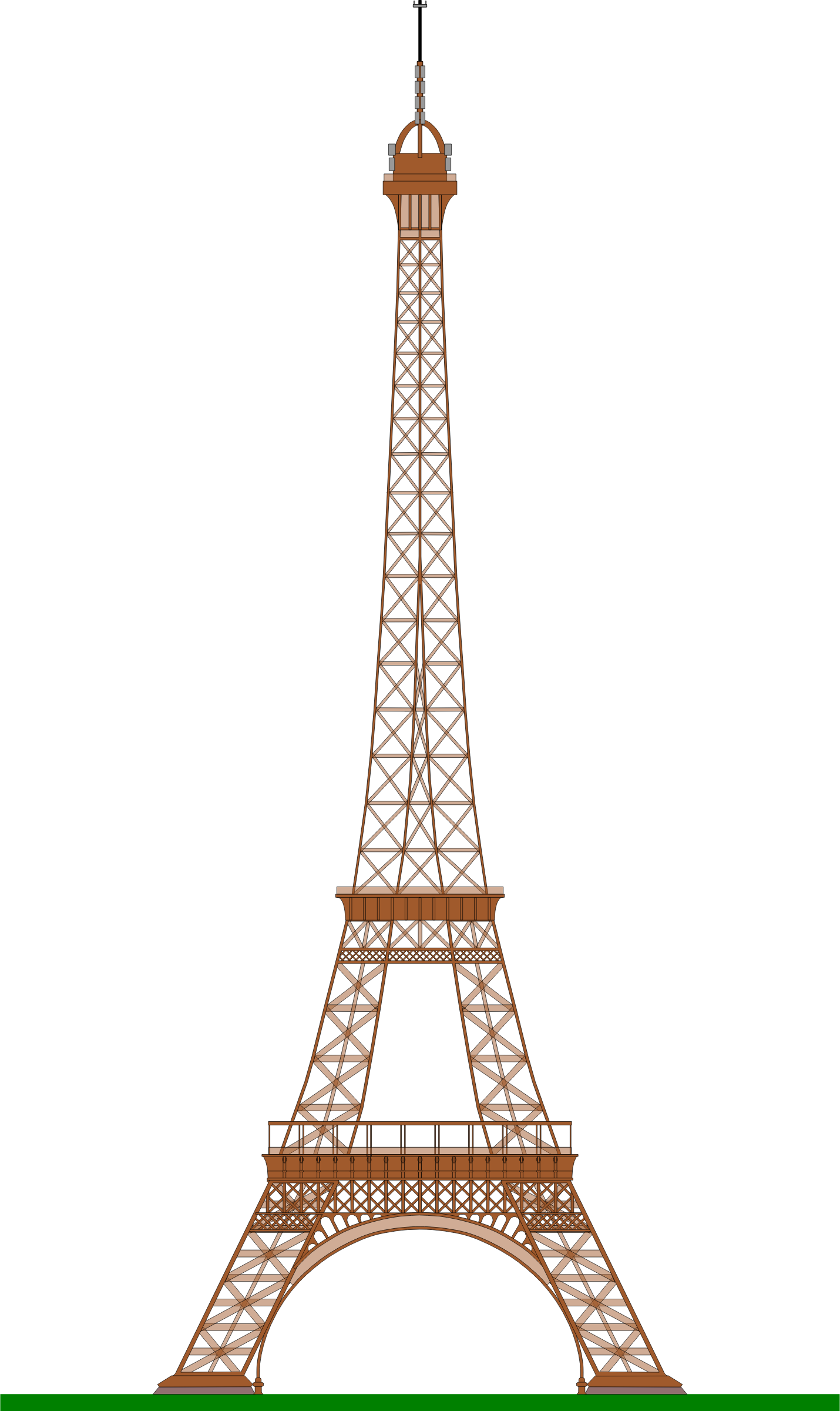 Eiffel Tower (Paris) by @ajaborsk, A side view of the ...