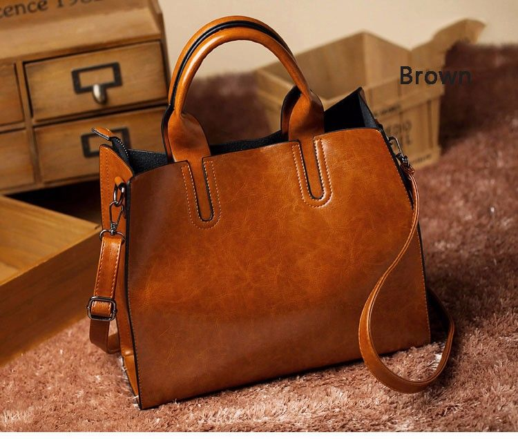New Women Luxury Bags Designers Handbags Oil Wax Leather Handbag Php2 026 22 You Save 10 Off The Regular Price Of 276 36