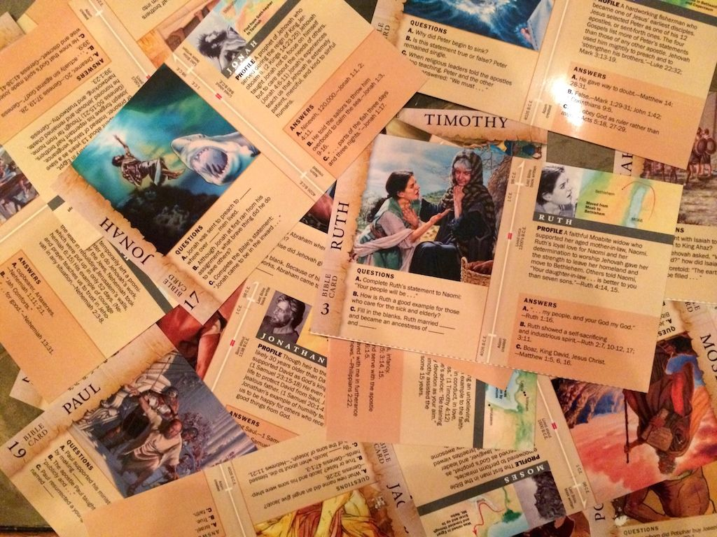 Heads Up Bible Character Cards