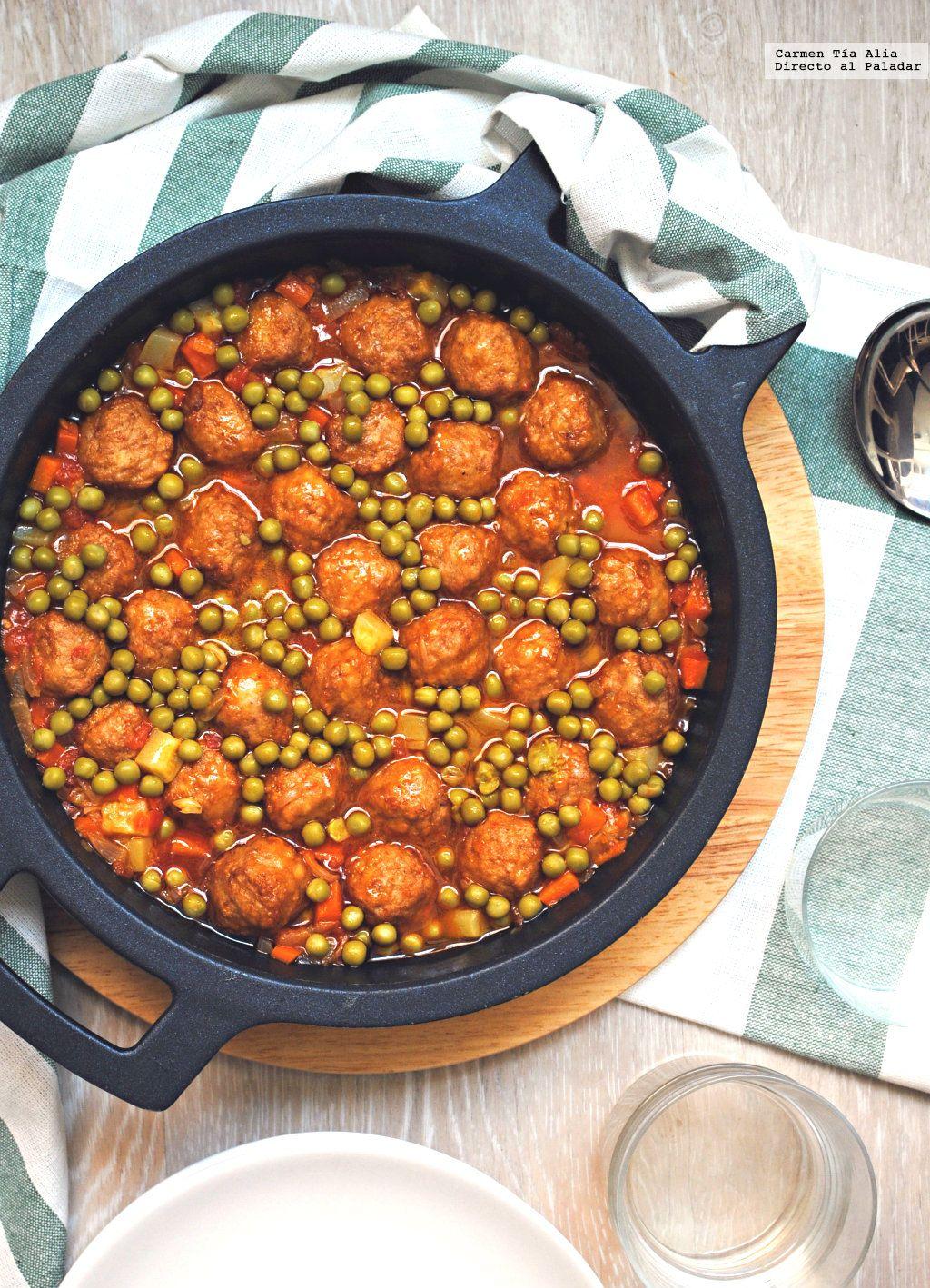 Alb ndigas en salsa de verduras la carne soy especial y - Guarnicion para albondigas ...