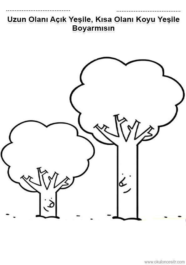 Uzun Kısa çalışma Kağıdı Edu For Kids Preschool Worksheets