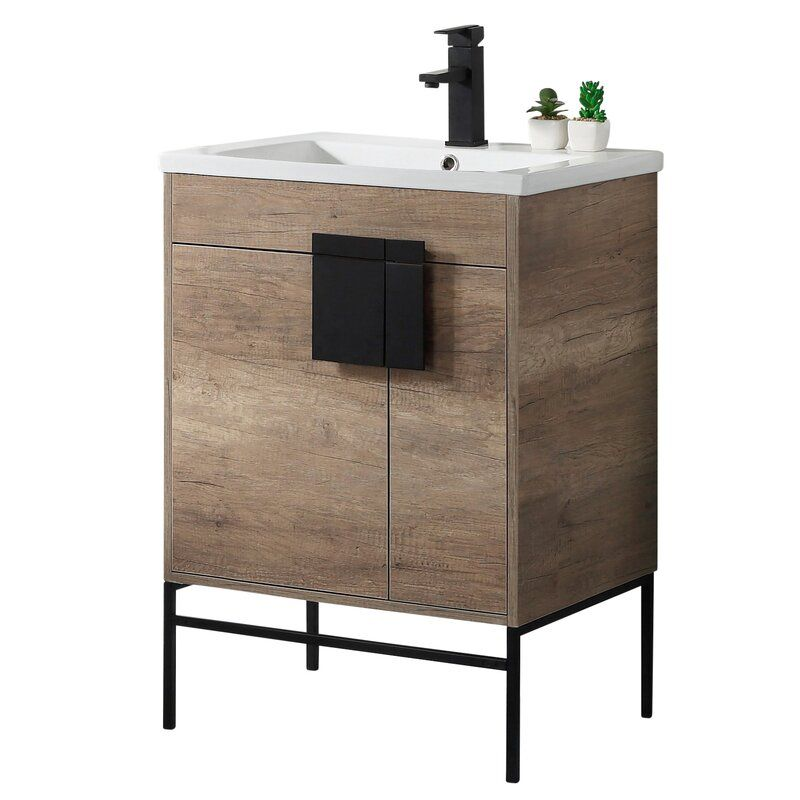 Wayfair Bathroom Vanity >> Wrought Studio Bourget 24 Single Bathroom Vanity Set