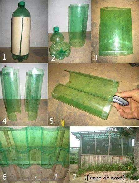 Several Ways To Reuse Plastic Bottles Reuse Plastic Bottles Diy Greenhouse Corrugated Roofing