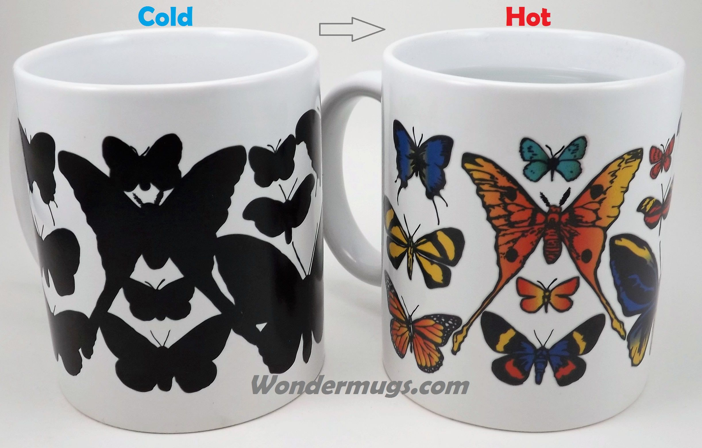 Does your mom enjoy the fluttering of Butterfly wings? Here's a unique gift idea: color changing Butterfly Wondermug!